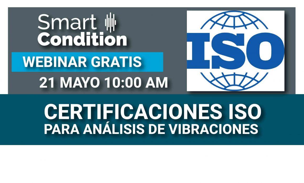 WEBINAR GRATIS - Certificaciones ISO para Análisis de Vibraciones